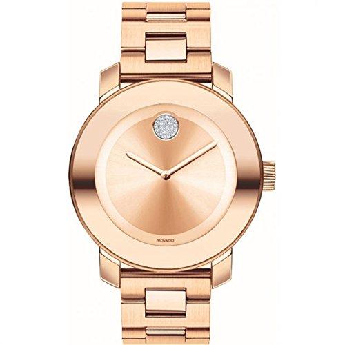 Movado Bold Reloj de Mujer Cuarzo Suizo 36mm Color Oro Rosado 3600086: Amazon.es: Relojes