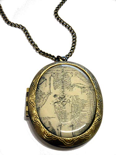 (Fallen Saint Anatomy Book Cameo Locket Necklace)