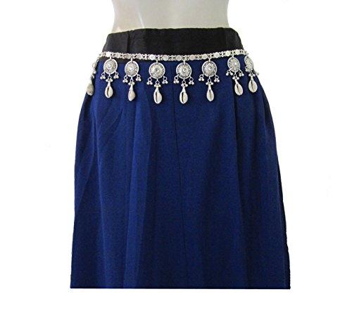Handmade Metal Chain Coin Shell Belt - Womens Fashion Waist Belt - Tribal Gypsy Boho Hippie Gothic Festival Kuchi Belly Dance Jewelry -