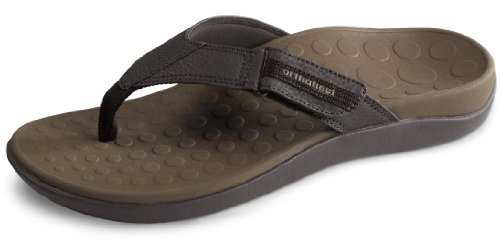 Vionic with Orthaheel Technology Men's Ryder Thong Sandals Chocolate Brown 8 D(M) US ()