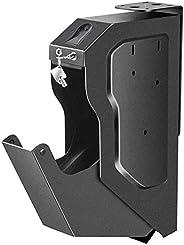 Gun Safe, Gun Cabinets with Biometric Fingerprint Gun Safe Box for Pistols Rifle Mounted, Firearm Safety Devic
