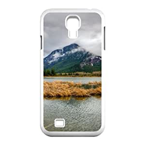 Okaycosama Funny Samsung Galaxy S4 Cases Lake View for Men, Phone Case for Samsung Galaxy S4, [White]