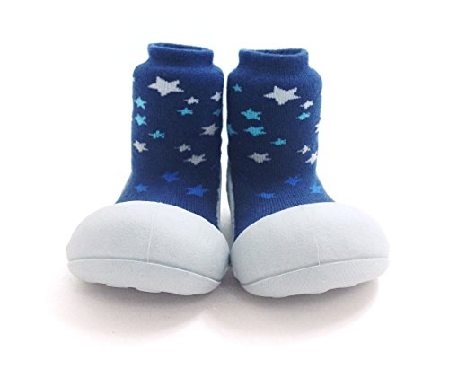 Attipas- Zapatos Primeros Pasos -Modelo Twinkle-color Azul-Talla 21,5