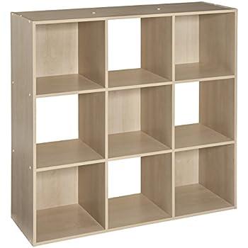 closetmaid 4177 cubeicals organizer 9 cube birch home kitchen. Black Bedroom Furniture Sets. Home Design Ideas