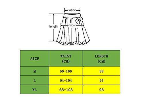 Robe Mi Imprime Et YUCH en Soie Haute Jupe Femmes Qin pour Mousseline Taille Pendule De Longue Fdq5v5w0