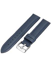 9123e6ae8632 Hadley-Roma MS2044RF Correa azul de cuero de ternero para reloj