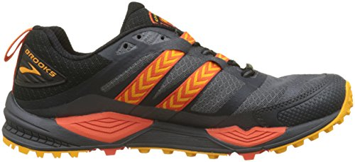 Brooks Cascadia 12 GTX, Scarpe da Trail Running Uomo Multicolore (Black/Ebony/Cherrytomato 1d047)