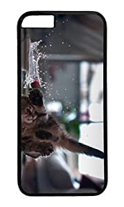 MOKSHOP Adorable funny kitten Hard Case Protective Shell Cell Phone Cover For Apple Iphone 6 Plus (5.5 Inch) - PC Black