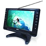 Axess 9-Inch, LCD TV with ATSC Tuner, Rechargeable Battery and USB/SD Inputs, TV1703-9