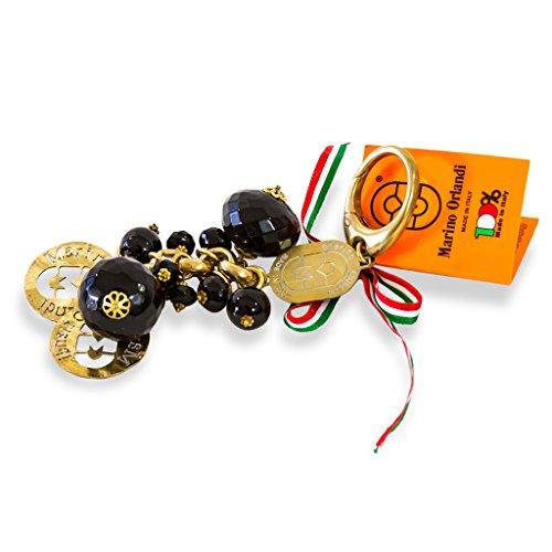 Marino Orlandi Italian Designer Jeweled Black Signature Keychain Keyfob by Marino Orlandi (Image #2)