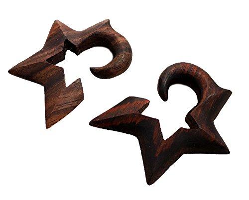 Bandaru Organics Sono Wood Half Star Hangers ()