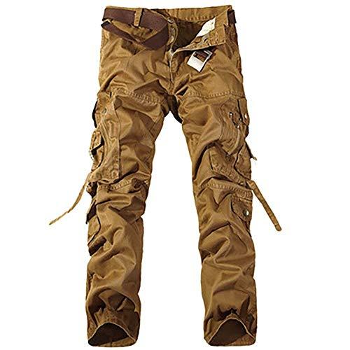 Pantaloni Con Jeans Classiche Morbida E Moda Cotone Gelb Tasca Ssig tasca Multi Comoda Multi Cargo Uomo Ragazzi 7wwB5