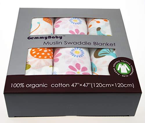 (Organic Muslin Swaddle (47