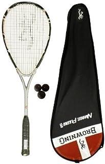 Browning Plasma NanoGel 130 Raquette de Squash et 3 balles RRP £ 255 de Squash