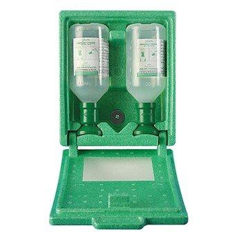 Scienceware F24880-5002 Plum Covered Double Saline Eyewash Station, 2 x 500 mL