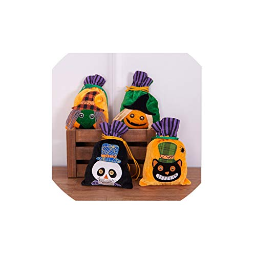 Adisaer Halloween Candy Pumpkin Hand Bags Trick or Treat Bags Felt Bags with Handle for Kids Chid Halloween Costume Party