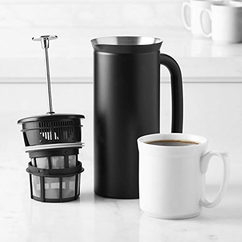 Espro Coffee Press P7-32 oz Double Wall Vacuum Insulated Stainless Steel Coffee Press, Midnight Black by Mars Band 3STM Pattern JacquieWasylnuk (Image #2)