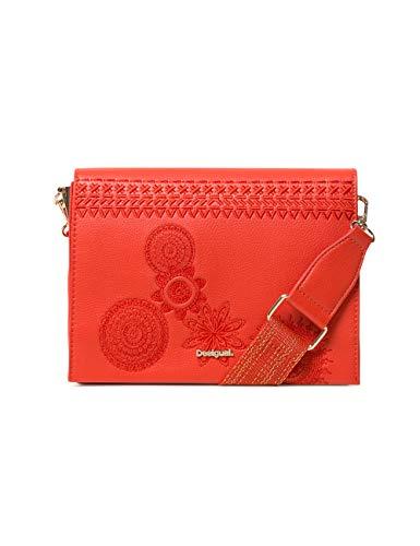 Desigual - Bag Dark Amber Imperia Women, Bolsos bandolera Mujer, Rojo (Carmin), 10x16x23 cm (B x H T)