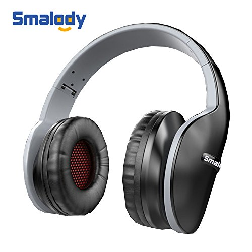 Smalody Gaming Headset Deep Bass Computer Game Headphones Noise Cancelling with Microphone Cool Design for computer PC Gamer (Black)
