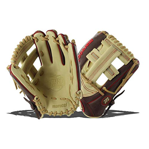 Marucci MFGBR1175SP BR450 Series Baseball Fielding Gloves, Gumbo/Camel, 11.75