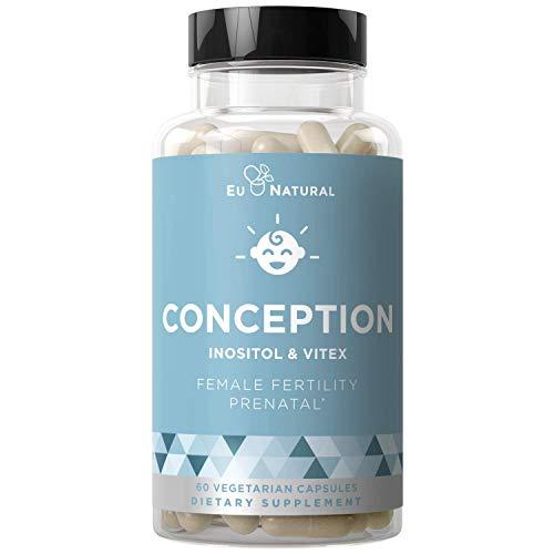 Conception Fertility Prenatal Vitamins – Regulate Your Cycle, Balance Hormones, Aid Ovulation – Myo-Inositol, Vitex…