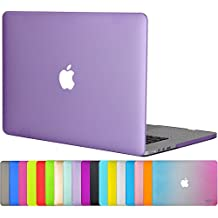 "Easygoby Matte Frosted Silky-Smooth Soft-Touch Hard Shell Case Cover for Apple 15.4""/ 15-inch Macbook Pro with Retina Display (Model: A1398) - Purple"