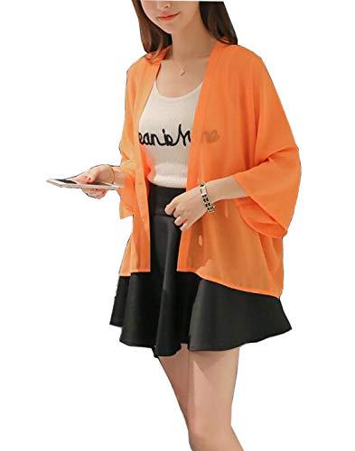 Lisa Pulster レディース カーディガン 薄手 シフォン 日焼け ビーチコート UVカット アウター 日焼け 冷房対策