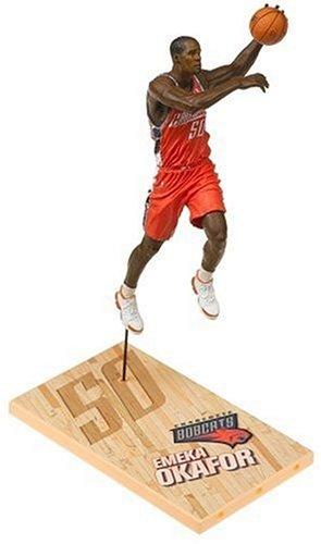 Charlotte Bobcats Jersey (NBA Series 9: Charlotte Bobcats #50 Emeka Okafor, Orange Jersey)