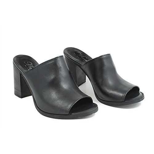 Nero Sandali Tacco Spuntati Personal Italy Vera Sabot In Con Shoepper Made Alto 0264 Pelle Nabuk XxHw5nPwAq