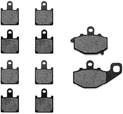 Rear Brake Pads for 2007-2011 Kawasaki ZX6R ZX600 KMG Front Non-Metallic Organic NAO Brake Pads Set