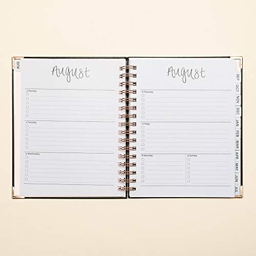 Sweet Water Decor 2020-2021 Academic Year Planner (August 2020 - July 2021) Inspirational Organizer, Weekly/Monthly Dated Hardcover Agenda Book (Grey & Rose Gold)