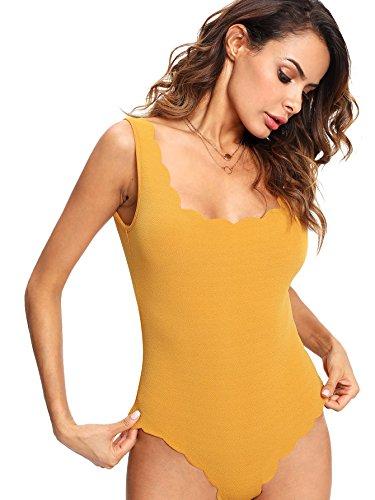Verdusa Scallop Leotard Bodysuit Jumpsuit product image