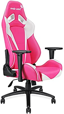 Anda Seat Pretty In Pink Executive Pvc Leather Gaming Chair Large Size High Back Recliner Office Racing Chair Swivel Rocker Tilt E Sports Chair Height