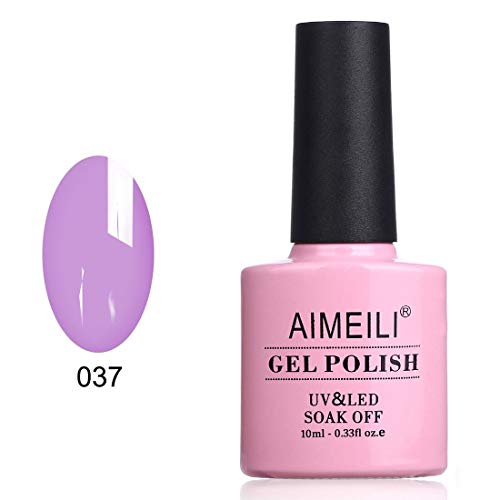 AIMEILI Soak Off UV LED Gel Nail Polish - Lilac Lightning (037) - Gel Single