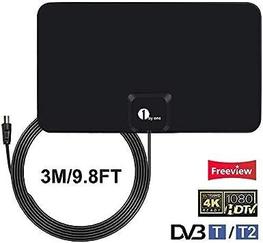 1byone Antena de TV,Antena HDTV para Interiores con excelente ...