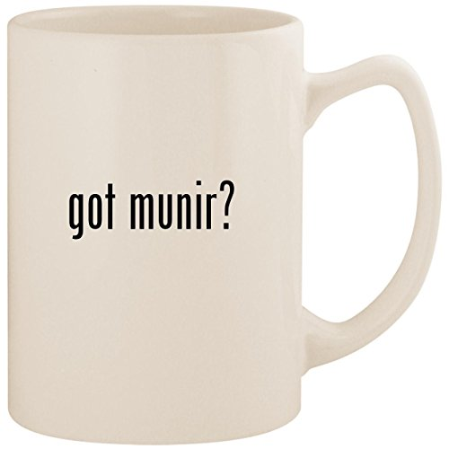 got munir? - White 14oz Ceramic Statesman Coffee Mug Cup