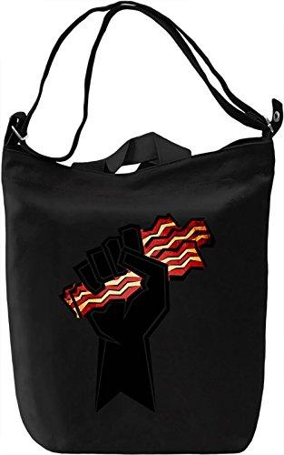 Bacon Power Borsa Giornaliera Canvas Canvas Day Bag| 100% Premium Cotton Canvas| DTG Printing|