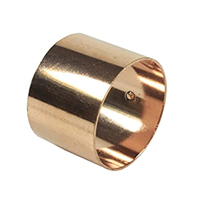 Libra Supply DWV Wrought Copper Coupling with Dimpled Stop C x C, DWV Copper Pressure Pipe Fitting Plumbing Supply