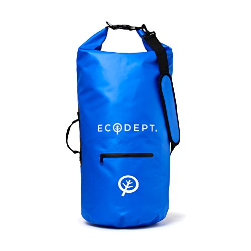 ECOdept Waterproof Dry Bag Backpack ~ Keeps Gear Dry Outdoors ~ Essential Boating, Kayaking, Travel, Beach, Camping Accessories ~ 2 x Shoulder Straps and Roll-Top Closure in 20L, 30L, 40L