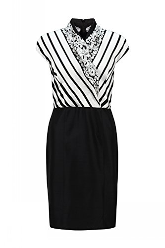 shanghai-tang-striped-silk-crossover-knee-length-all-day-dress-m