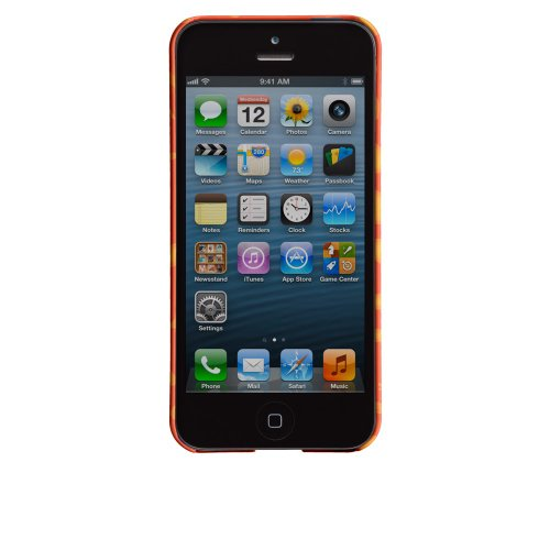Case-Mate CMIMMCI5050103 Barely There Schutzhülle für Apple iPhone 5, Ozelotmuster, Orange