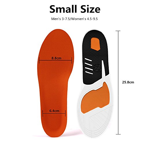 Plantar Fasciitis Inserts, Hallux Rigidus Orthotic Shoes Insoles for Men & Women, Full Length Sports Insoles with Cushioning Arch Support for Plantar Running, Hiking, Foot Pain, Flat Fe(Women 4.5-9.5) by BEITESI (Image #1)