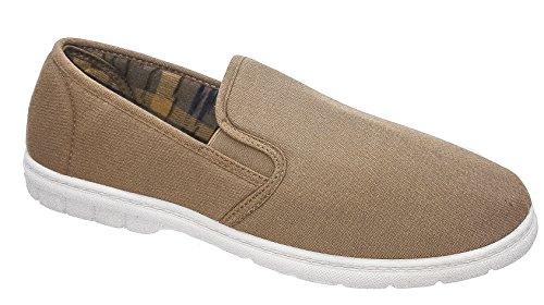 Gordini Herren Tan braun-weiß, Schuhe, Casual, Größen 6 bis 12