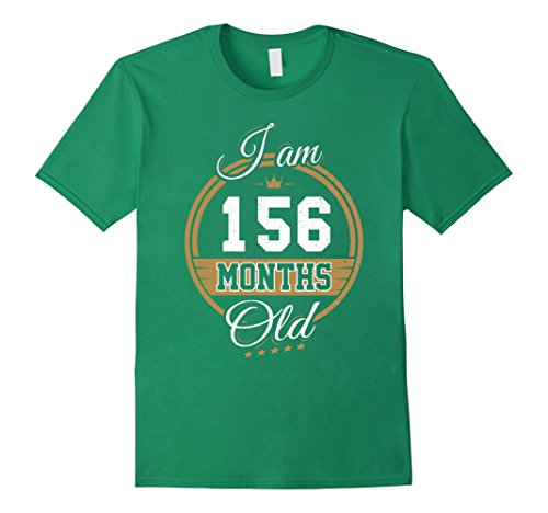 Mens Funny Vintage 13th Birthday T-Shirt I'm 156 Months Old Gift Medium Kelly (Cute 13 Year Old Halloween Costumes)