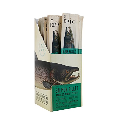 Epic Snack Strips, Smoked Salmon Maple, 0.8 oz. (20 Count)