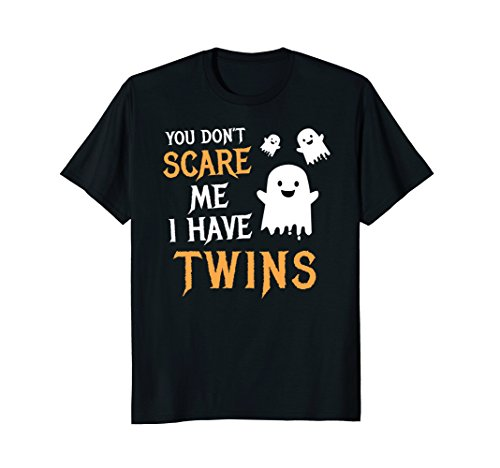 Mens Funny Parents of Twins Shirt Halloween Gift XL Black