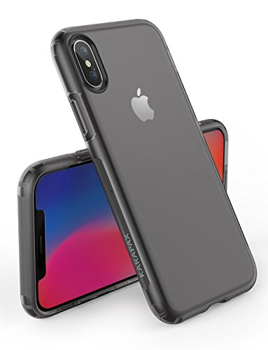 iPhone X Case, iPhone 10 Case, Anker KARAPAX Touch Case Matte Finish Flexible Soft TPU Cover Shell Skin [Support Wireless Charging] [Slim Fit] for Apple 5.8 In iPhone X (2017) - Black