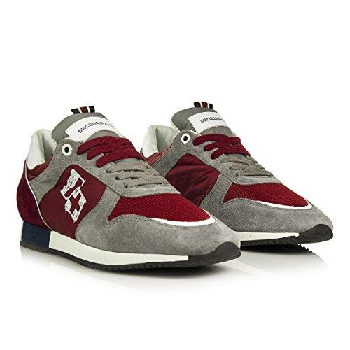 D'Acquasparta Sneaker in Pelle Cosimo U750GR Grigio/Rubino Made in Italy Nr.44 Recomendar Aclaramiento De Obtener Auténtica Envío Libre Exclusiva Ver Online jRILc4MHxM