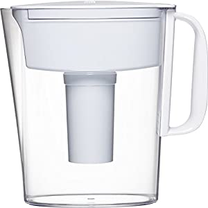 Brita Small 5 Cup Metro Water Pitcher with Filter - BPA Free - White