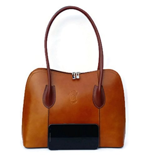 Classic Tan Shoulder Tote Ladies Leather Pelle Italian Bag Handbag Vera BxEg5wAwq